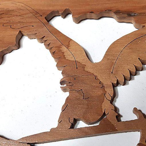 Fali fa dísz – Lézervágott – Kardos turul – nagy