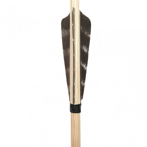Wooden arrow with nature turkey feather