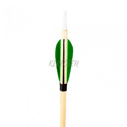 """Wooden arrow for children  - with 2"""" parabolic feather"""